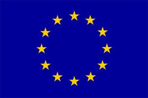 bandera azul con estrellas