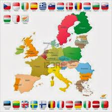 bandera mapa UE