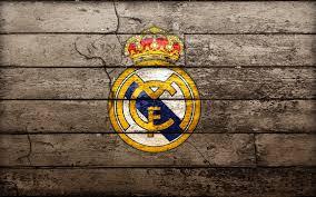Escudo Real Madrid madera